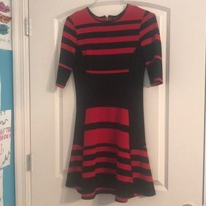 Short red and black dress